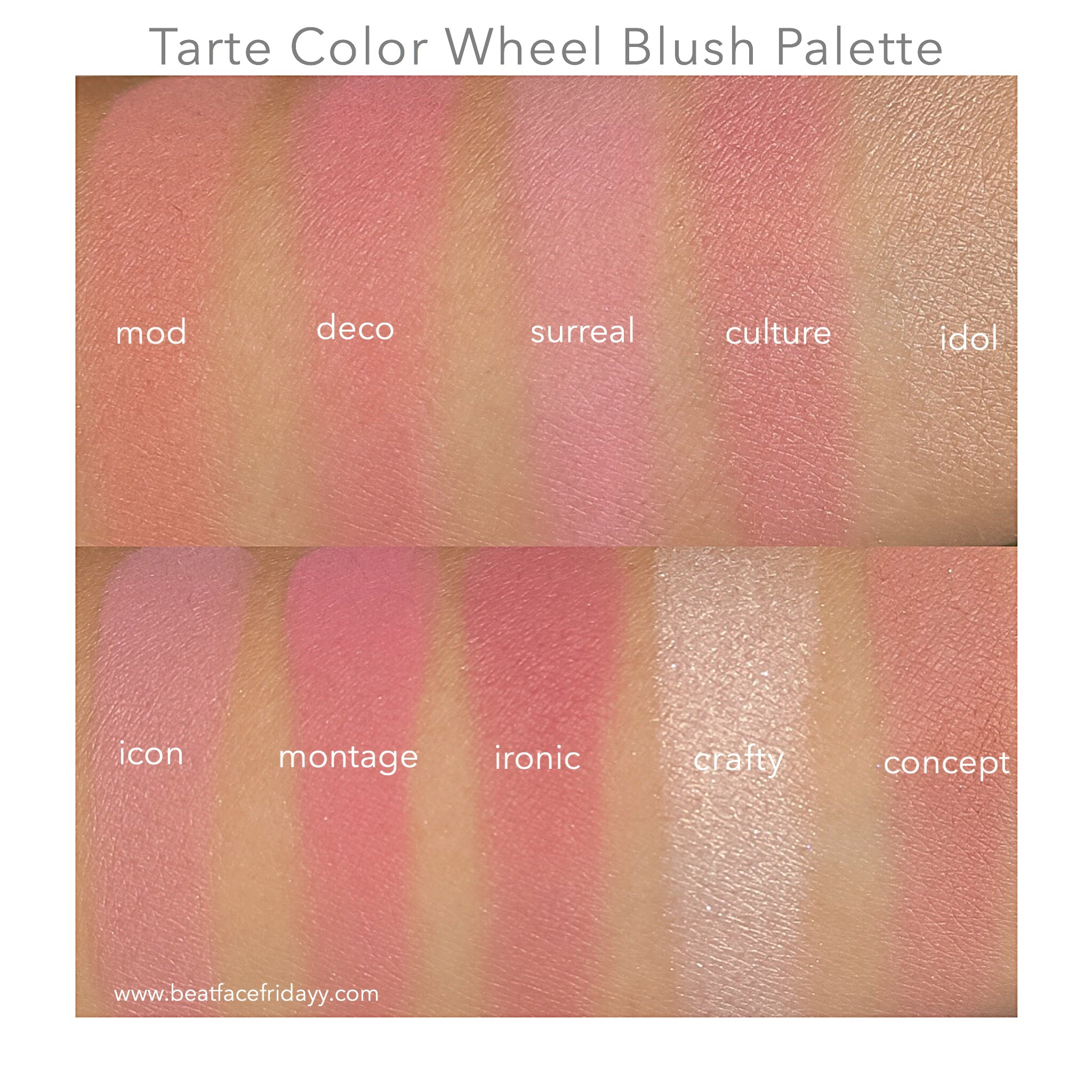 Tarte stunner vs tarte stunner dupe comparison - Tarte Cosmetics Color Wheel Review And Swatch Tarte Amazonian Clay Blush Palette Color Wheel Swatches Beatfacefridayy